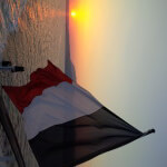 Sunset and Flag